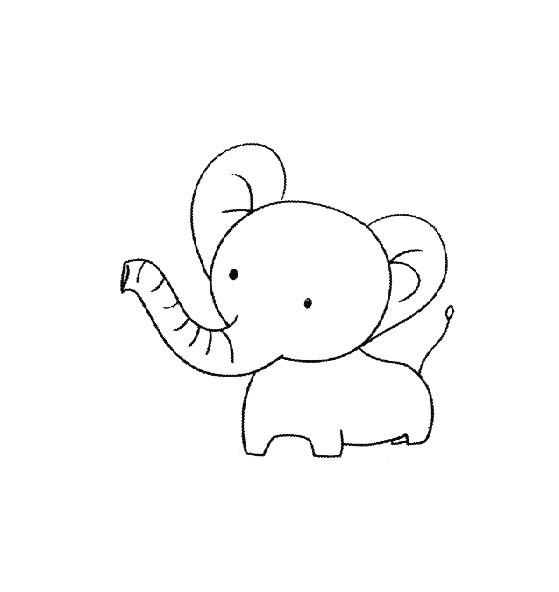 大象简笔画图片大全