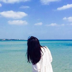 海边风景图片女生头像