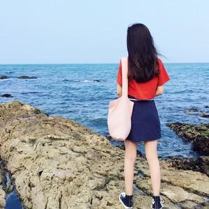 海邊風景圖片女生頭像