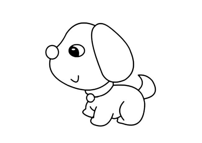 呆萌,可爱,小狗,简笔画,图片,动物,宠物 狗的简笔画 呆萌可爱