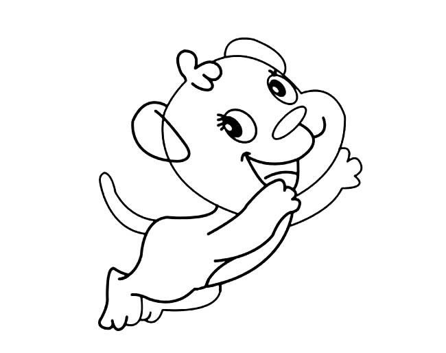 卡通可爱小狗简笔画图片