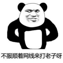 叉腰熊猫嘲讽表情包