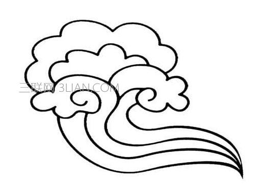 幼儿云朵简笔画画法步骤图解