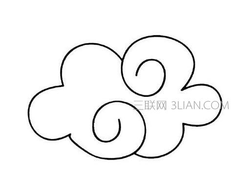 关于幼儿云朵简笔画画法步骤图解,小编为大家推荐.