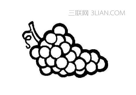 画葡萄的简笔画就相当于勾勒出葡萄的结构,包括叶子的外形,叶脉