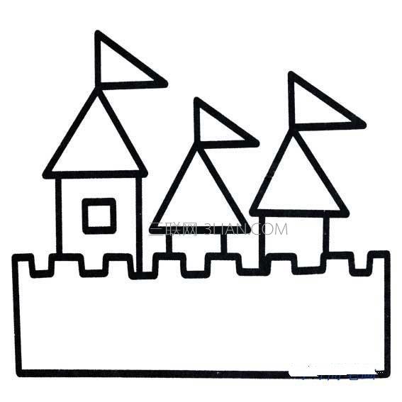 城堡简笔画图片大全图片