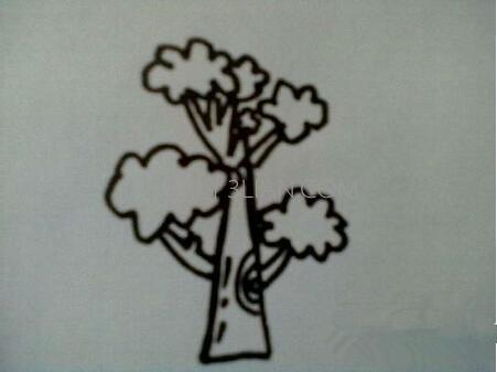 画大树简笔画步骤图解_柯南简笔画步骤图解_皮卡丘简