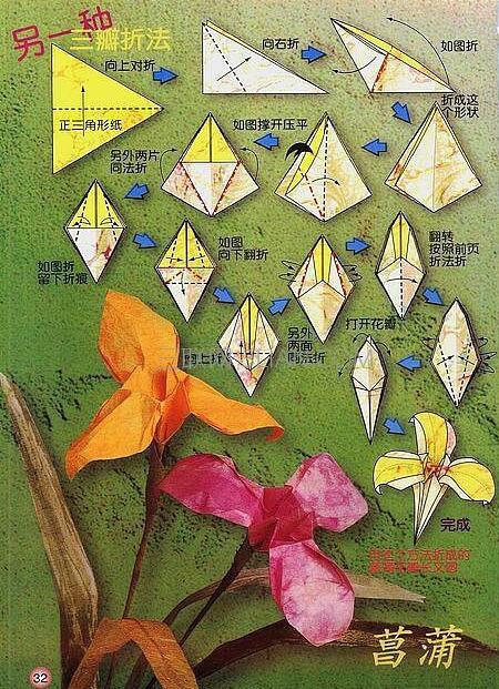50种简单又好看的纸花折法图解