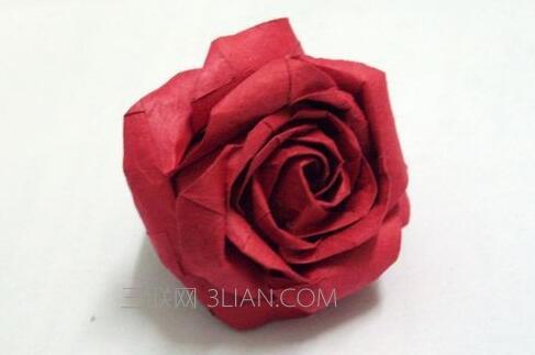 最简单的纸玫瑰花折法图解简单又漂亮