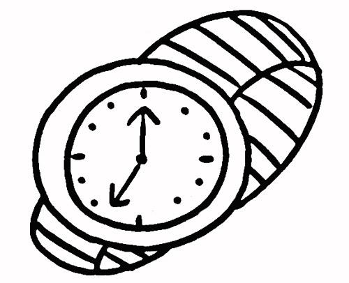 手表简笔画图片_手表简笔画图片大全_卡通手表的简笔图片