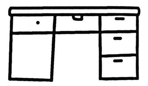 书桌简笔画图片