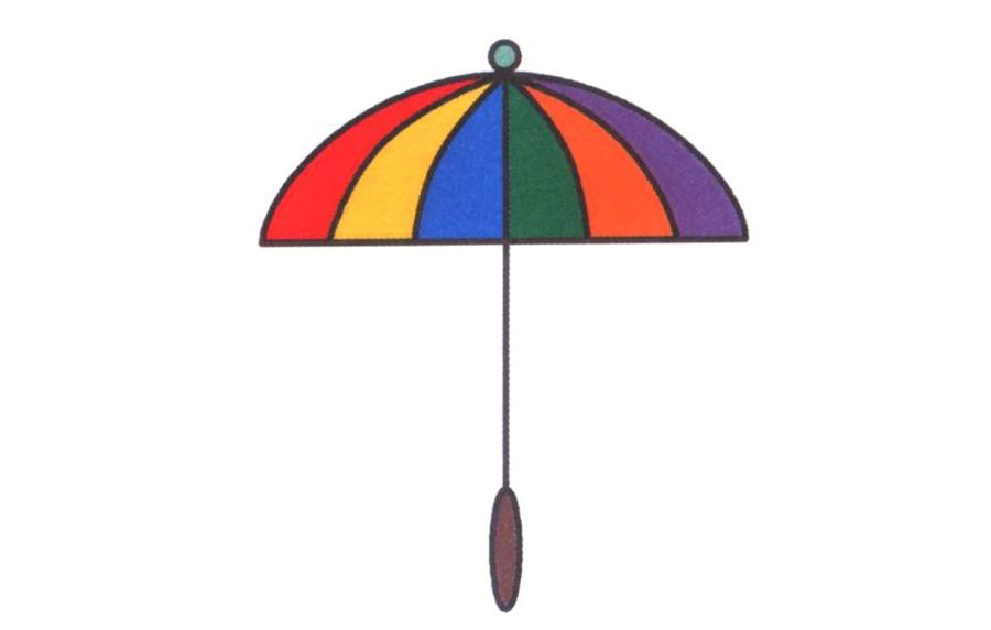 精致的雨伞简笔画图片_雨伞简笔画图片大全_小雨伞简
