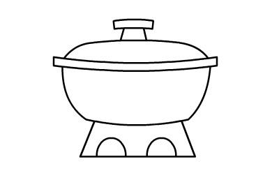 火锅简笔画图片
