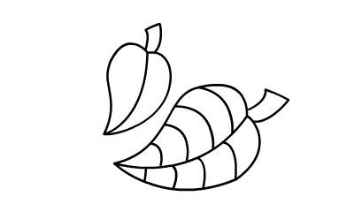 叶子简笔画图片