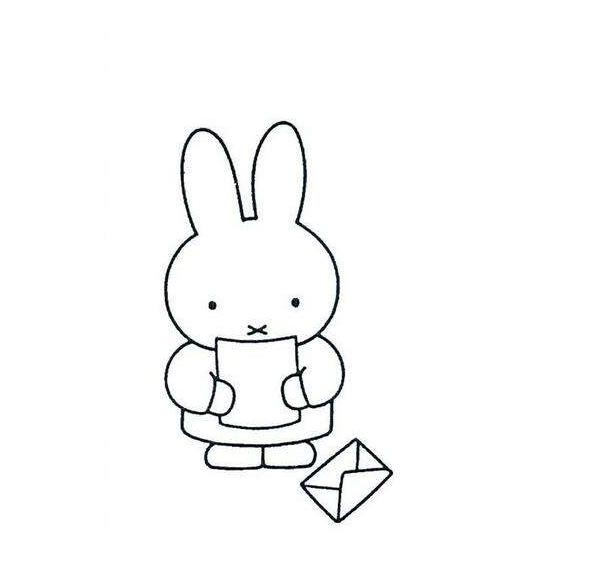 米菲兔子简笔画-玉兔简笔画