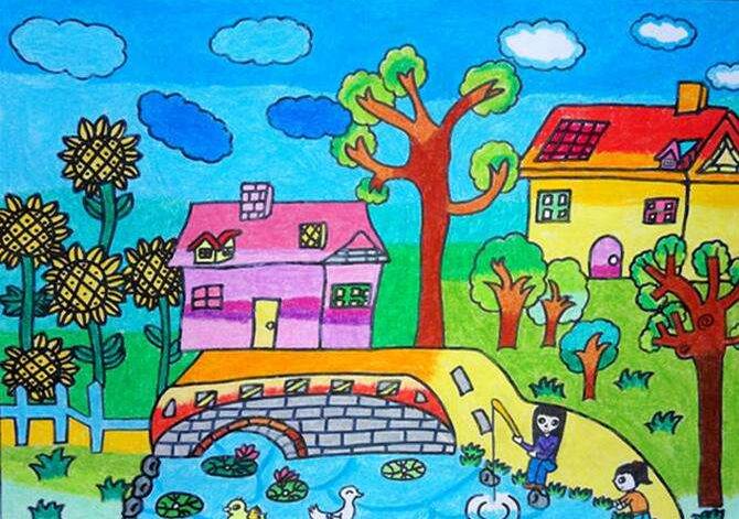 儿童风景画图片(2)