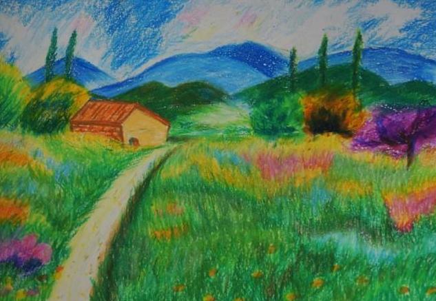 风景图片儿童 春天的风景图片儿童画