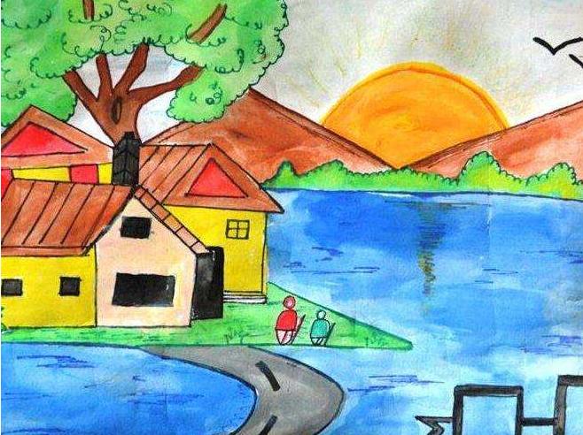 儿童风景画图片(3)