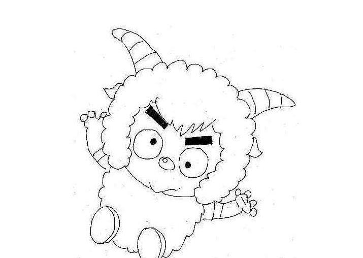 沸羊羊简笔画