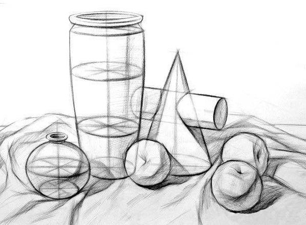 静物素描图片 2