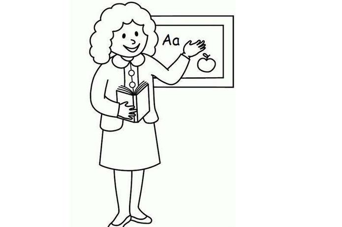 教師節簡筆畫
