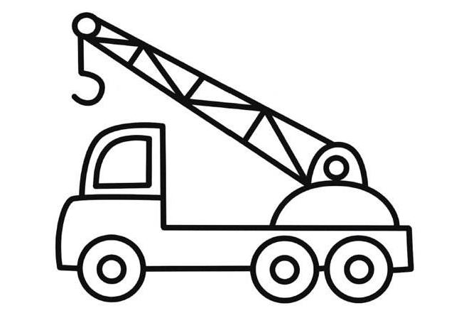 单又好画的吊车简笔画   专业来说 车间、工地等等地方,是非常得力