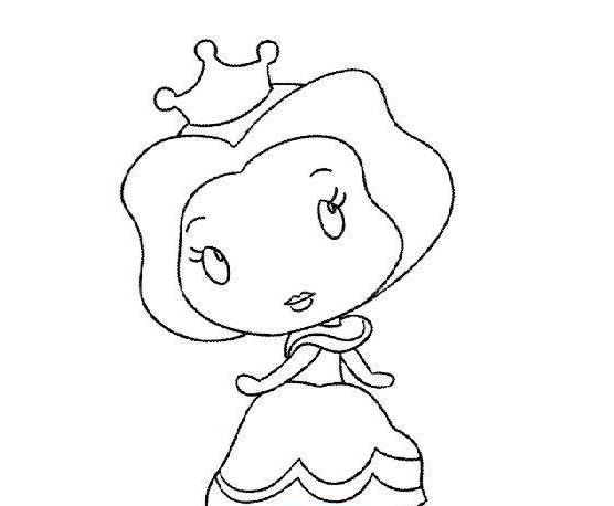 贝儿公主简笔画