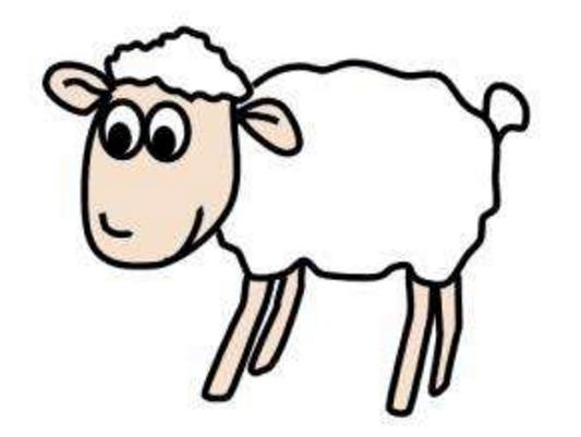 阅读频道 简笔画  羊是温顺的动物,在童话中羊一直是善良角色,所以小