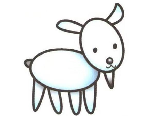 儿童简笔画羊-羊简笔画
