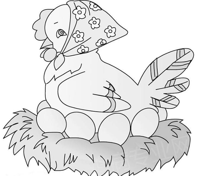 阅读频道 简笔画   鸡是很常见的家禽动物,同时它也是12生肖中的一属.