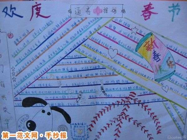 春节手抄报:春联的形式
