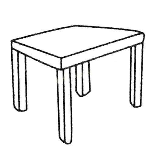 桌子简笔画大全及画法步骤