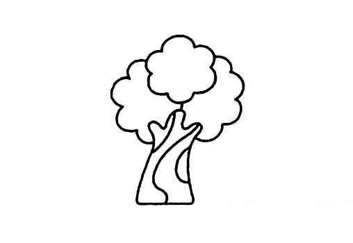 老榕树简笔画带步骤