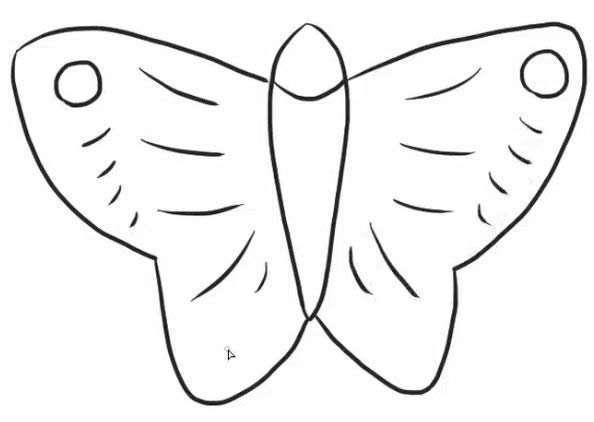 蝴蝶风筝简笔画步骤图片教程