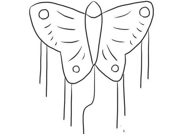 蝴蝶风筝,风筝,蝴蝶 蝴蝶风筝简笔画教程 1、先画出蝴蝶的身体。  2、画出蝴蝶一边翅膀的形状。  3、画出蝴蝶右边翅膀的形状。  4、画出蝴蝶的花纹。  5、画出蝴蝶翅膀上的圆形花纹。  6、最后画出蝴蝶风筝边上的流苏,一只美丽的蝴蝶风筝就画好啦!  风筝之最 中国潍坊万人放风筝 刷新吉尼斯世界纪录 2011年4月16日,英国吉尼斯世界纪录认证官吴晓红在此间宣布,中国潍坊举办的万人同放风筝活动,以10465只同时放飞的风筝,刷新了2010年加沙6198人在此项目上保持的吉尼斯世界纪录。 16日上午,碧空