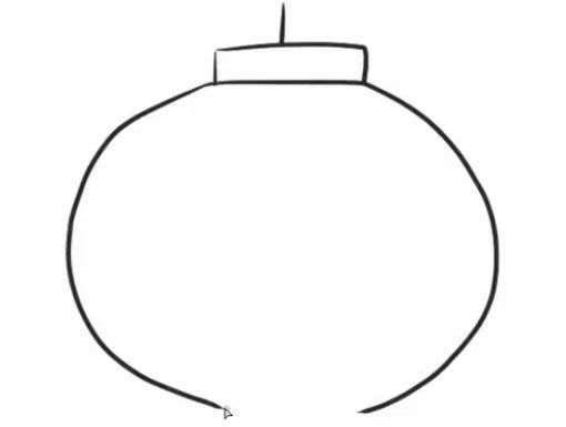 新年春节灯笼简笔画步骤图片教程