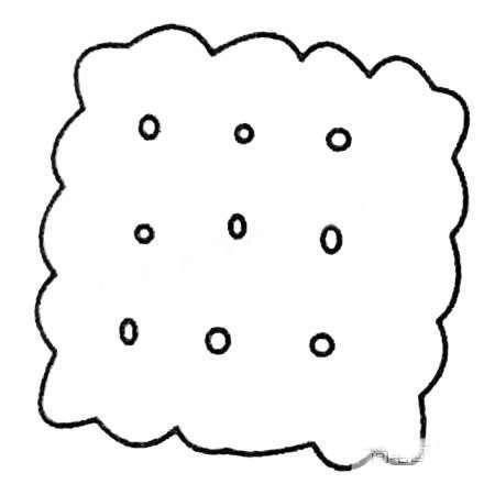 食物面包简笔画的画法步骤