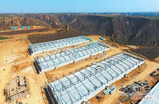 甘肃:庆阳正欣元15万头生猪现代化示范项目施工现场