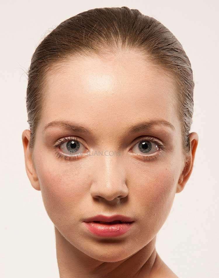 photoshop给美女人像照片后期磨皮教程