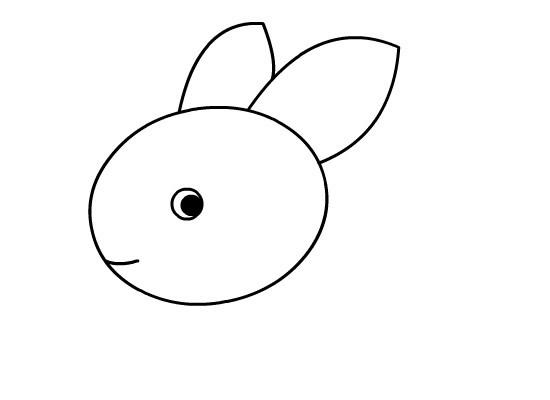 小兔子简笔画的画法步骤教程