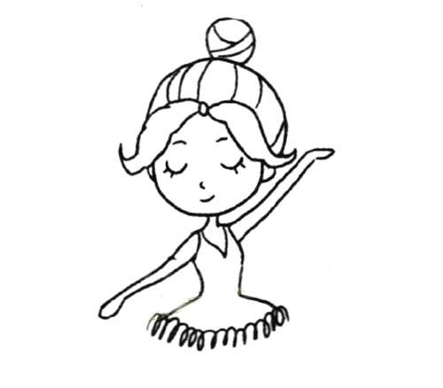 有翅膀的女孩简笔画