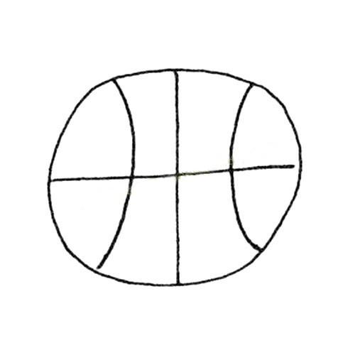 简单的篮球简笔画图片