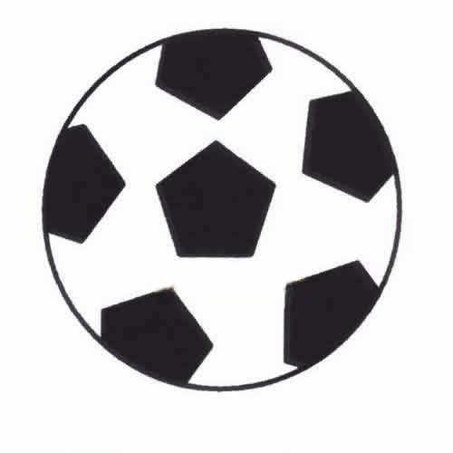 简单的足球简笔画图片