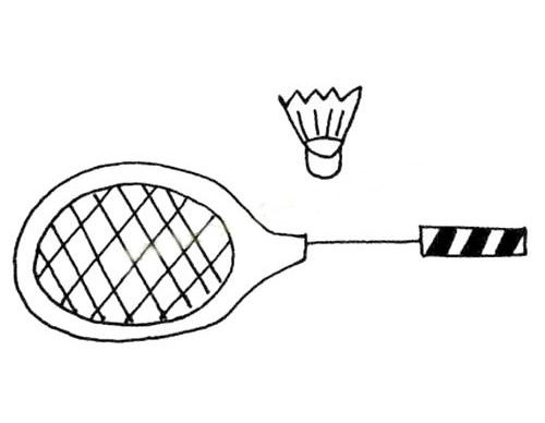简单的羽毛球拍简笔画图片