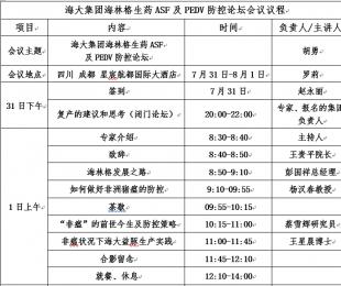 会讯:海大集团海林格生药ASF及PEDV防控论坛!