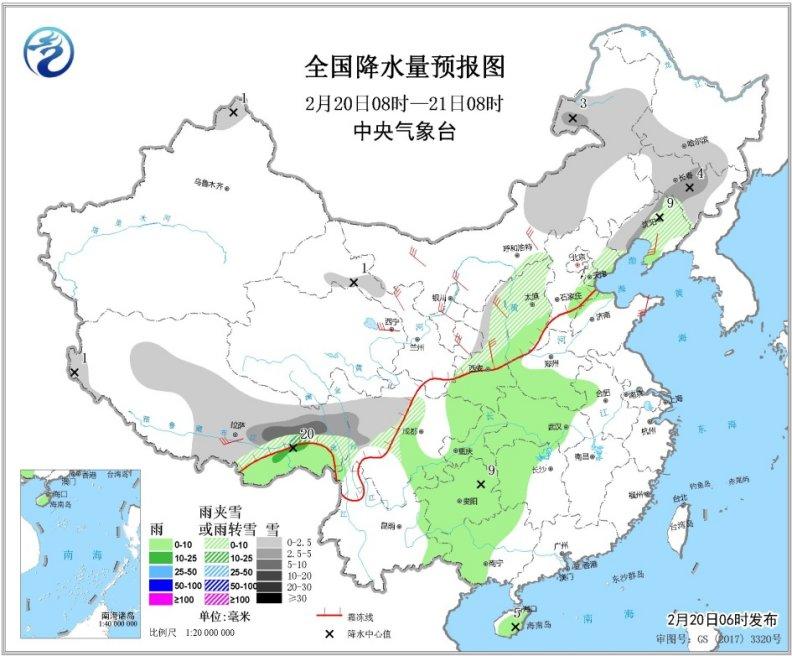东北地区将有较强降雪 青藏高原南部有降雪