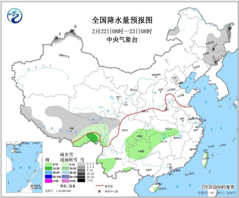 冷空气东移风沙起 黑龙江吉林等地有大到暴雪