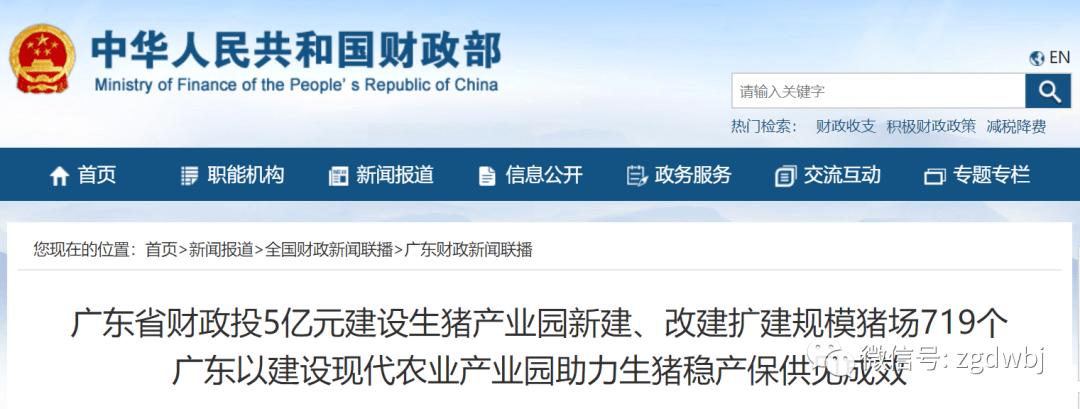 广东:投5亿元,改建扩建规模猪场719个